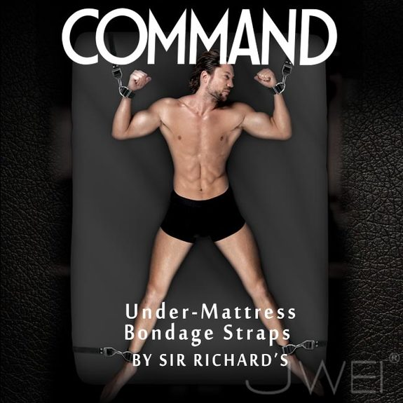 美國原裝進口PIPEDREAM.COMMAND Sir Richards命令系列 Under-Mattress Bondage Straps 床上四肢束縛SM套組